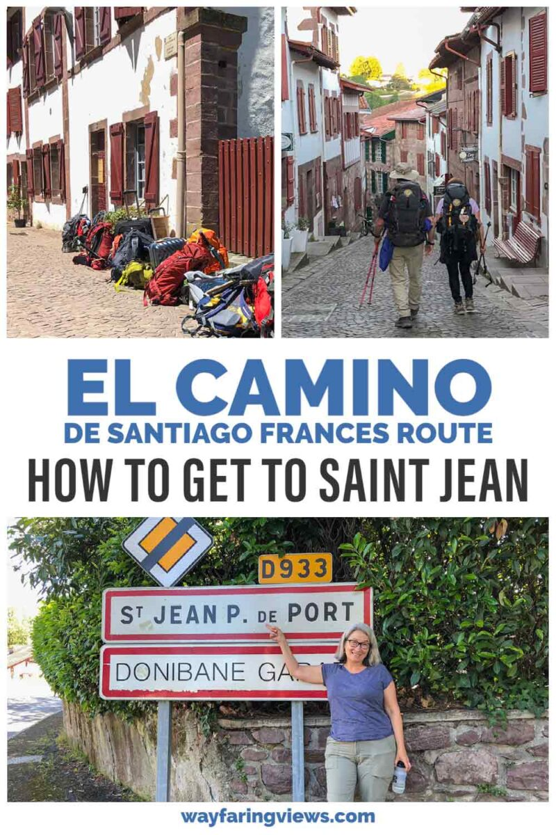 El Camino Frances route- how to get to Saint Jean