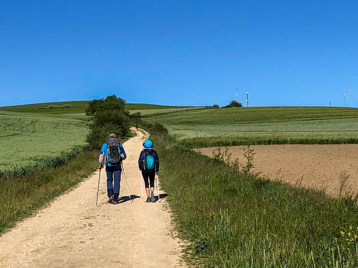 Camino Frances- hiking in the rolling hills